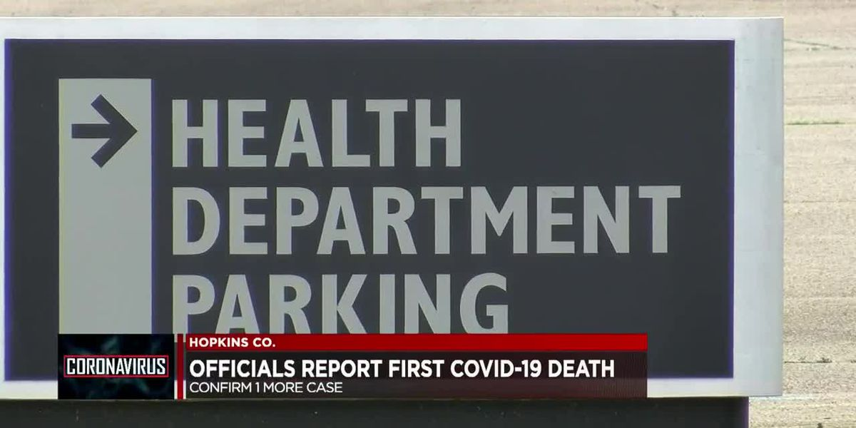 Hopkins County Health officials announce first COVID-19 death