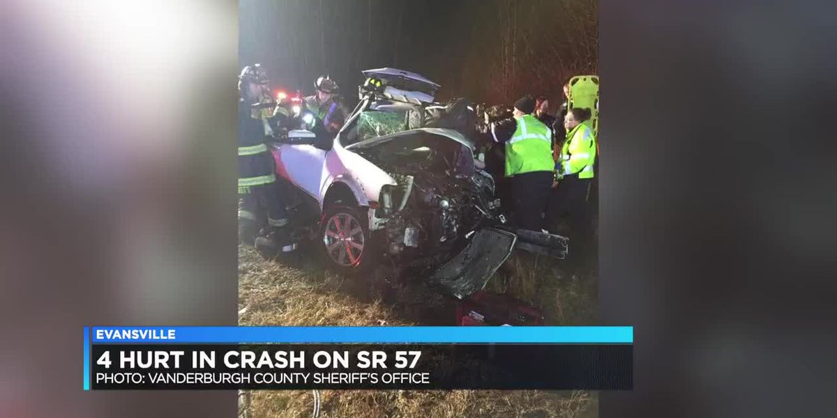 Vehicle accident on State Road 57 results in 4 injured