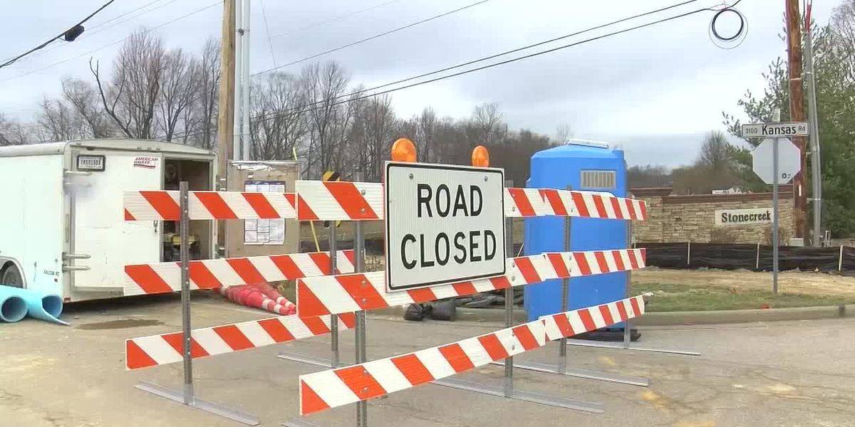 Reconstruction project causes temporary closure on Kansas Rd.