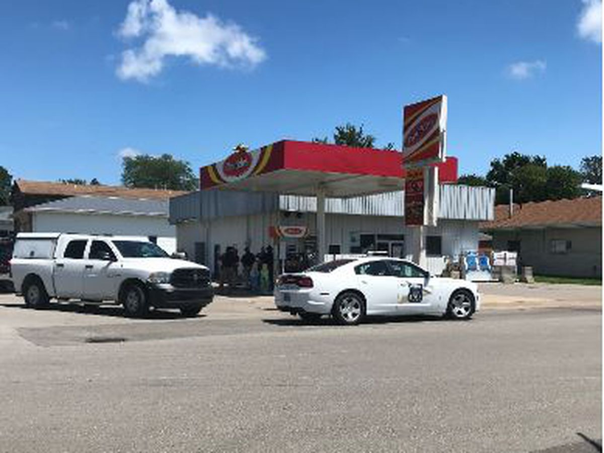 Man detained by police at Evansville gas station