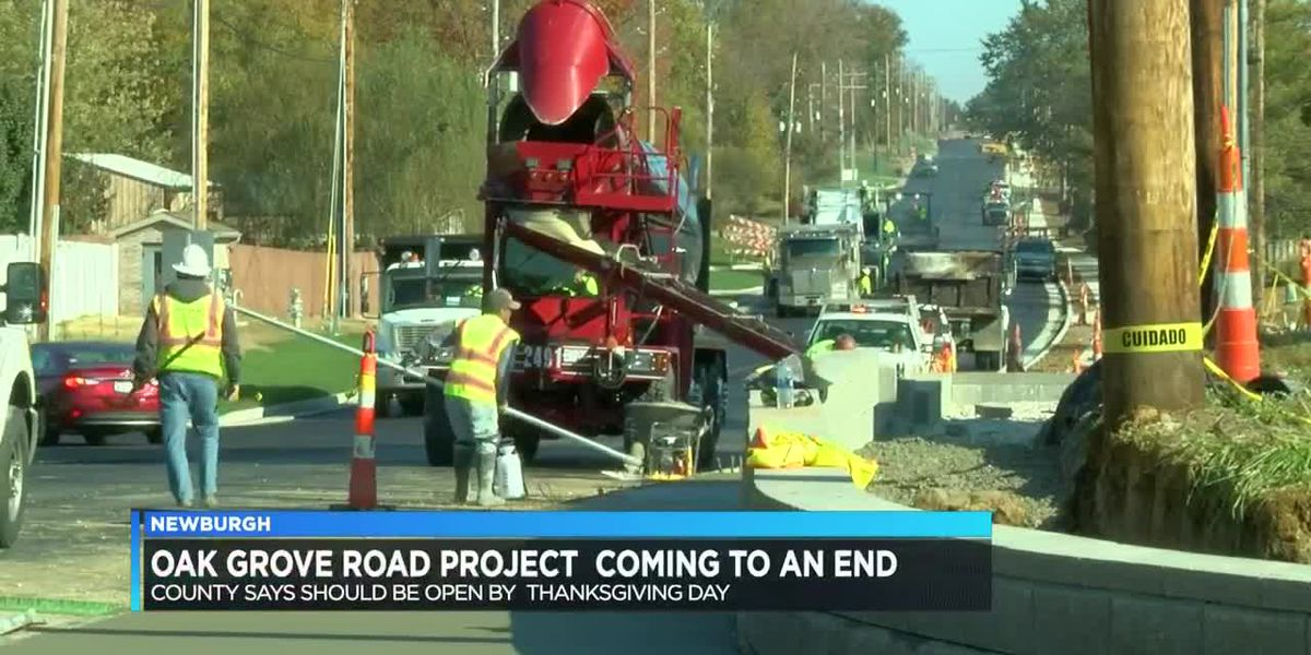 Construction on Oak Grove Road in Newburgh coming to an end