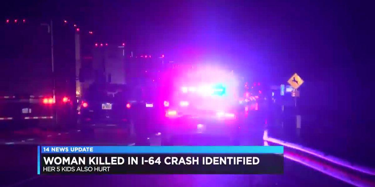 ISP: Evansville woman dead, 5 children hurt following crash on I-64 in Posey Co.