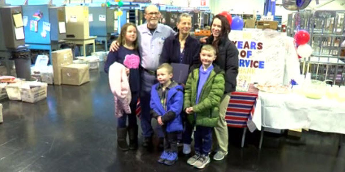 Tri-State postal worker honored for decades of service