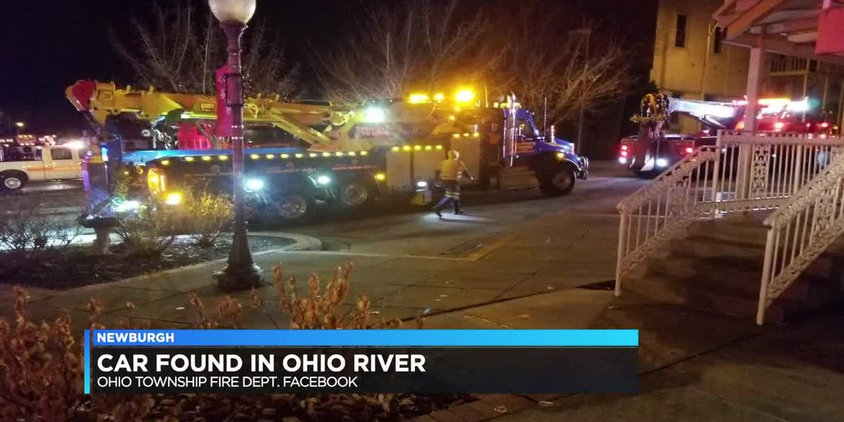 Car found after crash into Ohio River in Newburgh; one person dead
