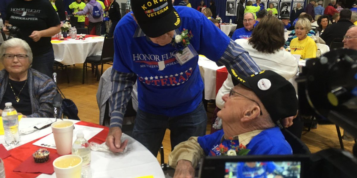 Meet and greet dinner for Honor Flight veterans
