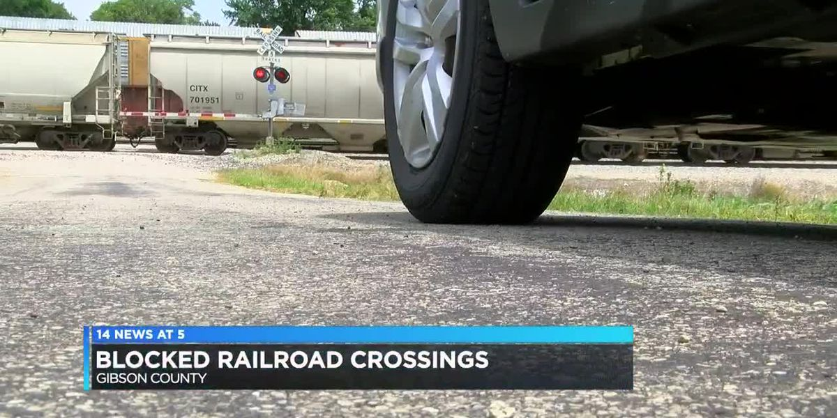 Blocked railroad crossings frustrating Gibson Co. residents