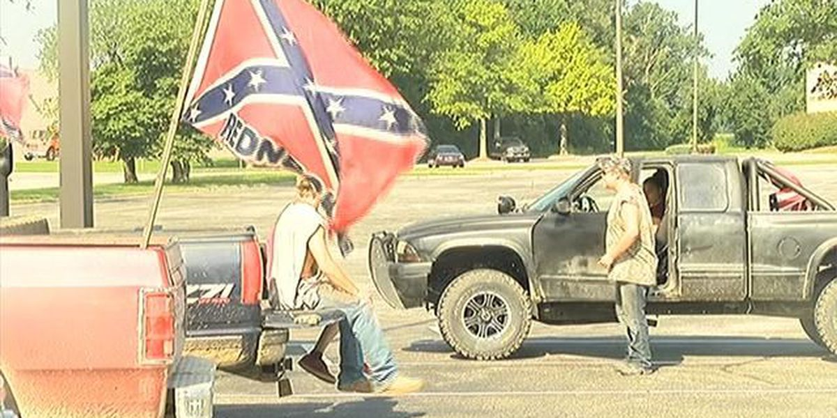 Confederate flag supporters hold rally in Owensboro