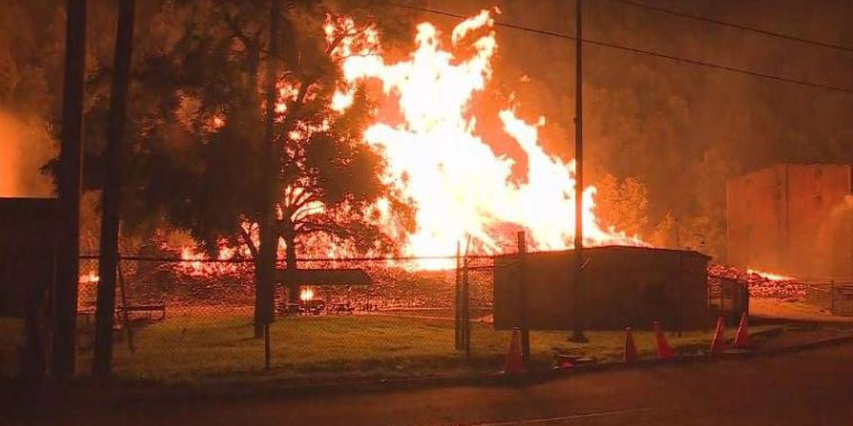 Massive fire engulfs Jim Beam facility in Woodford County