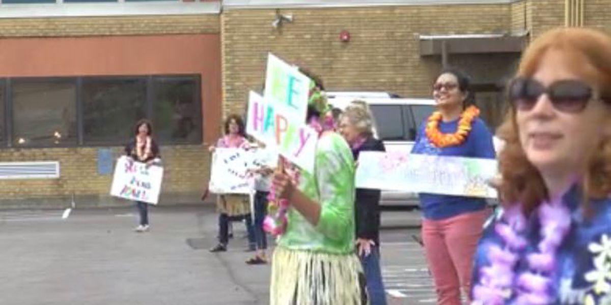 Evansville school hosts end of year parade