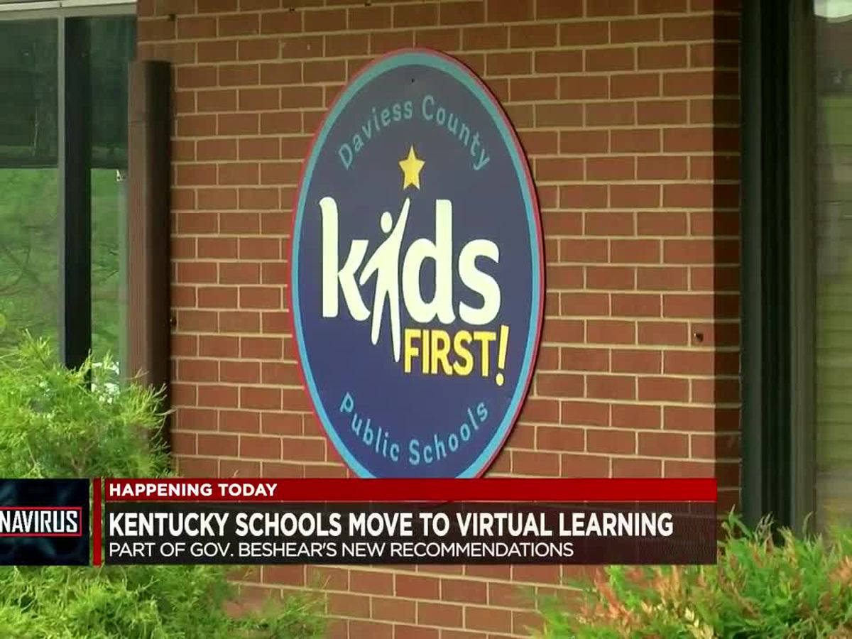 Kentucky schools move to virtual learning Monday