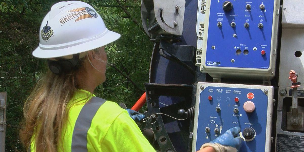 Sewer maintenance underway on Evansville's west side