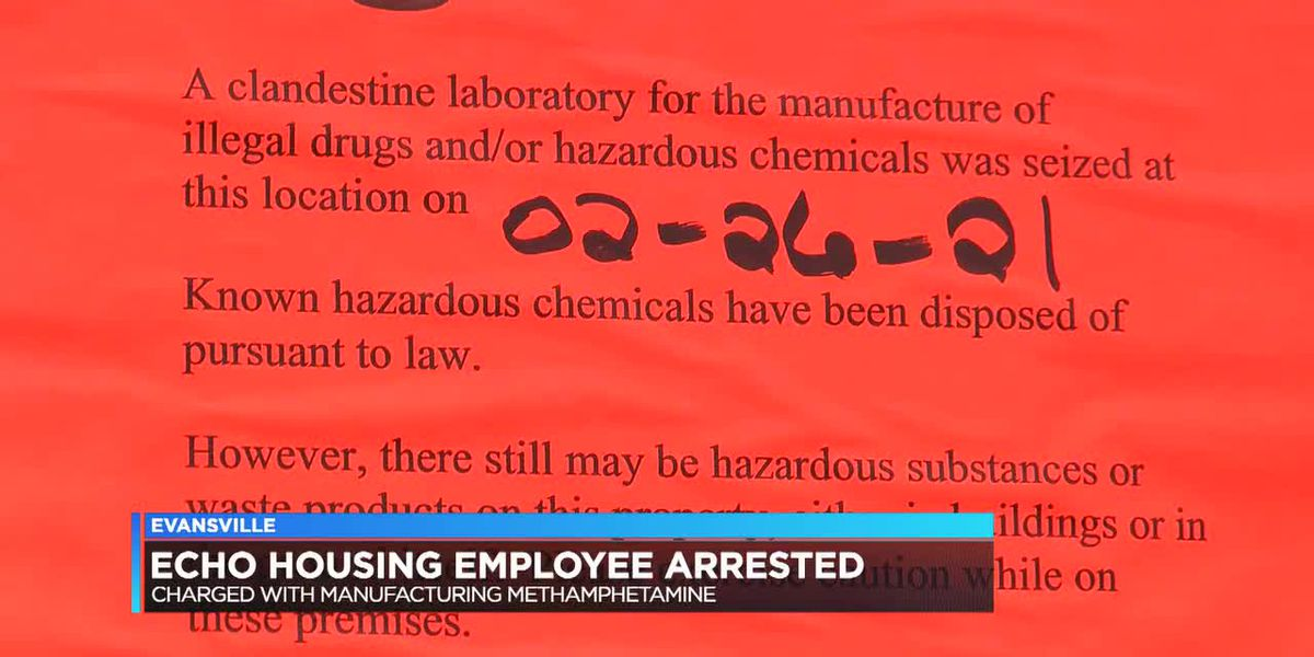 ECHO Housing employee accused of manufacturing methamphetamine