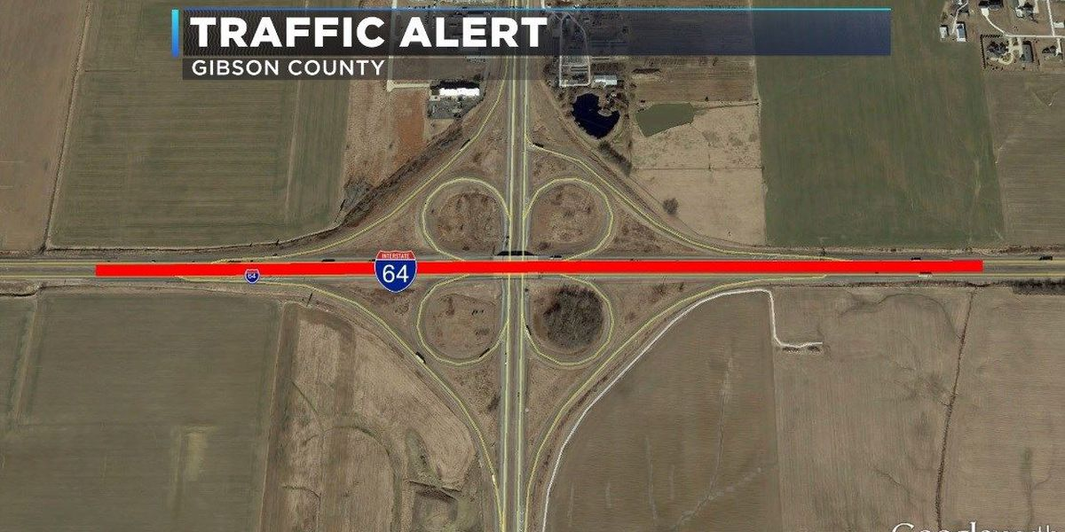 I-64 ramps from Hwy 41 in Gibson Co. to close Thursday