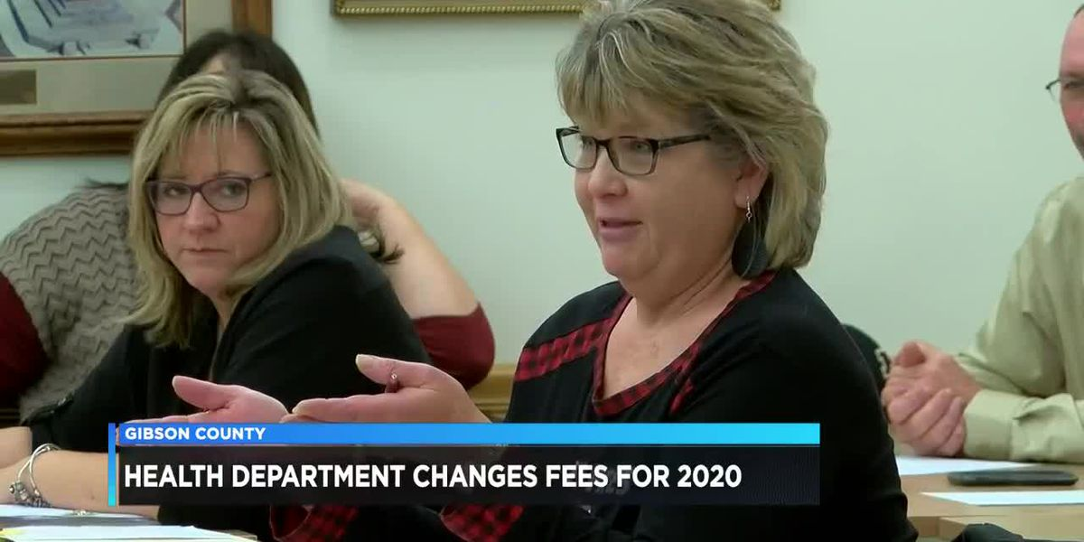 Gibson County Health Department changes fees for 2020