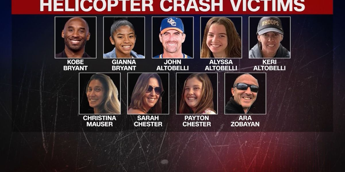 Kobe Bryant's body, other crash victims identified