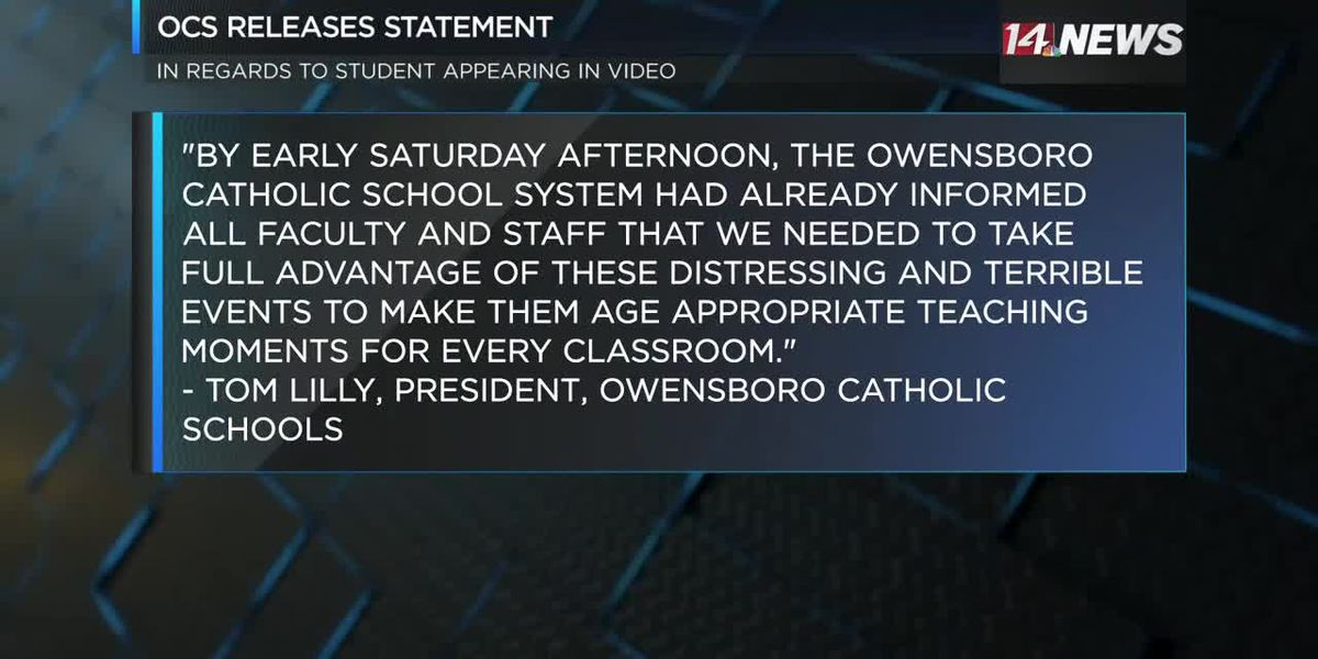 Owensboro Catholic releases statement after student seen in controversial viral video