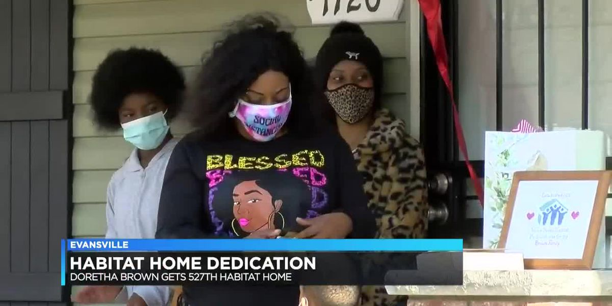 Evansville mother receives new home through Habitat for Humanity