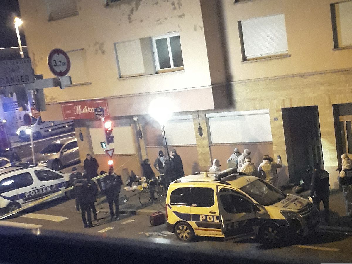 Video captures aftermath of France attack suspect shootout