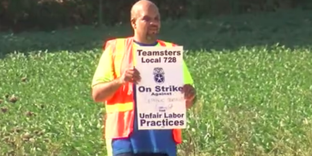 Teamsters Local 728 from Georgia striking at Evansville landfill
