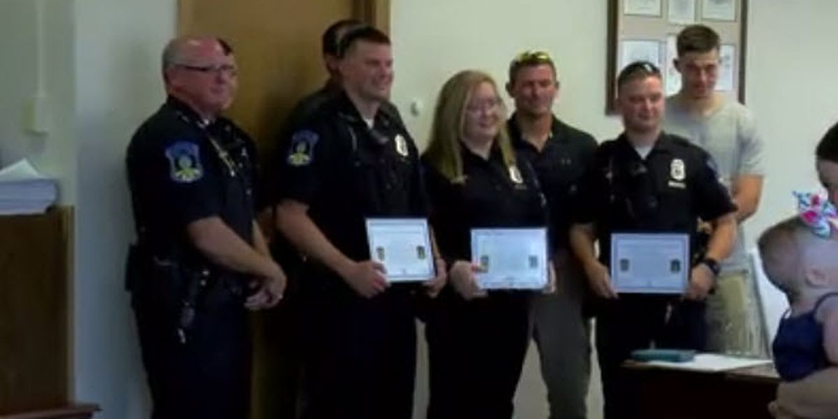 Boonville first responders honored after saving man from lake