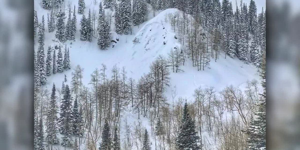 VIDEO: Skier caught, buried by Utah avalanche