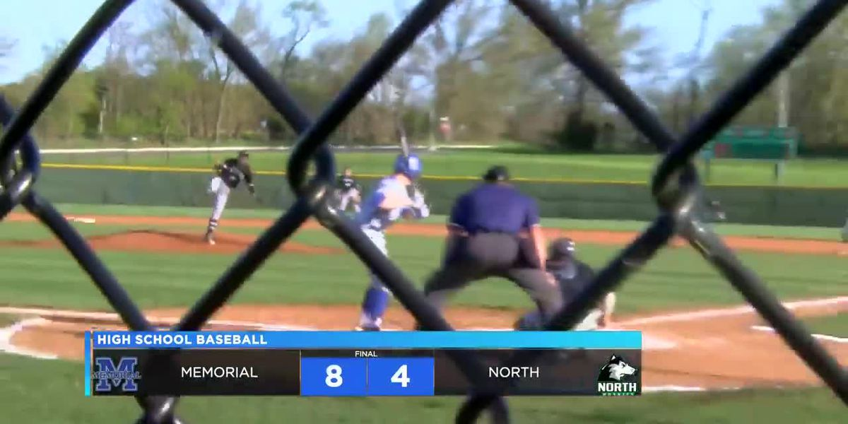 HIGHLIGHTS: Memorial vs. North High School Baseball