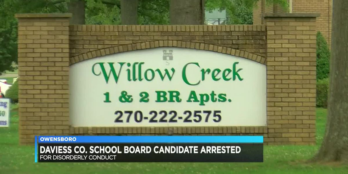 Daviess Co. School Board candidate arrested, accused of disorderly conduct