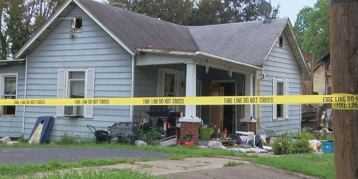 Family salvages what is left of home after fire