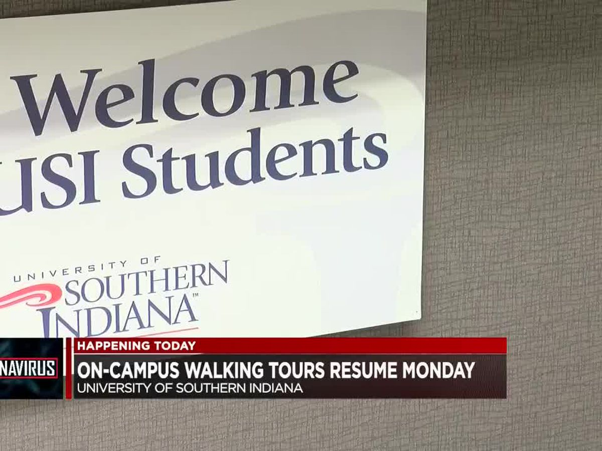 USI resuming on-campus walking tours Monday