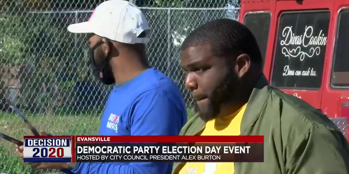 Evansville City Councilman Alex Burton hosts 'I Voted Party'