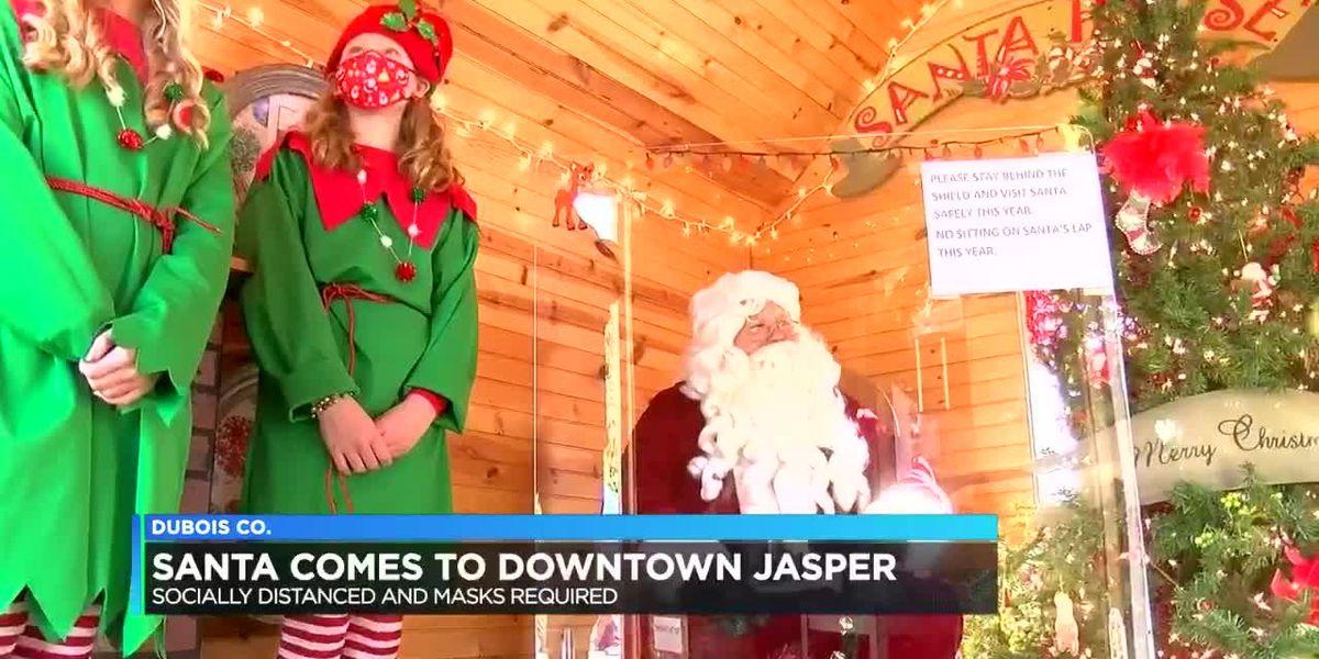 Santa Claus visits Jasper for town parade