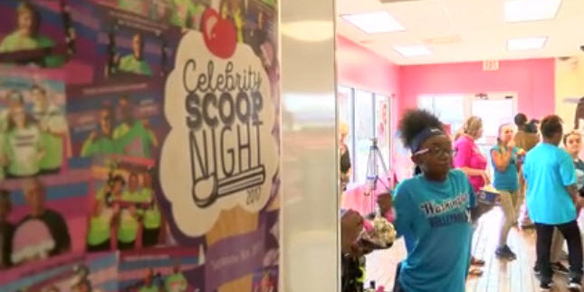 Evansville celebs dishing up ice cream at Baskin Robins