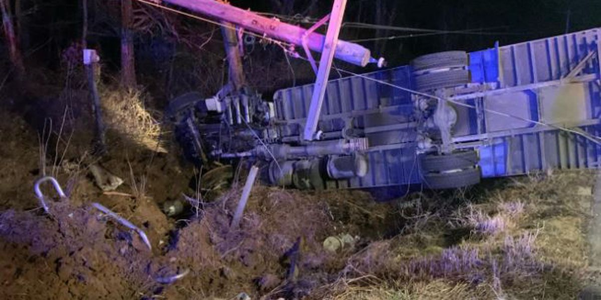 No one hurt after produce truck overturns in Ohio Co.