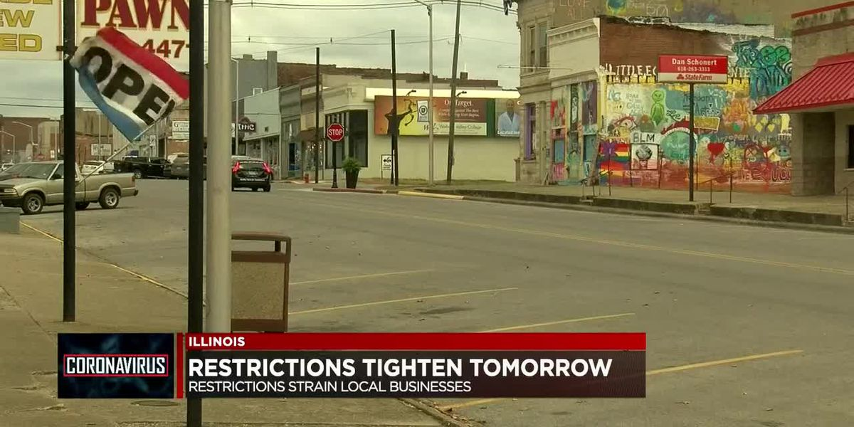 New restrictions hit IL counties Wed., businesses strained