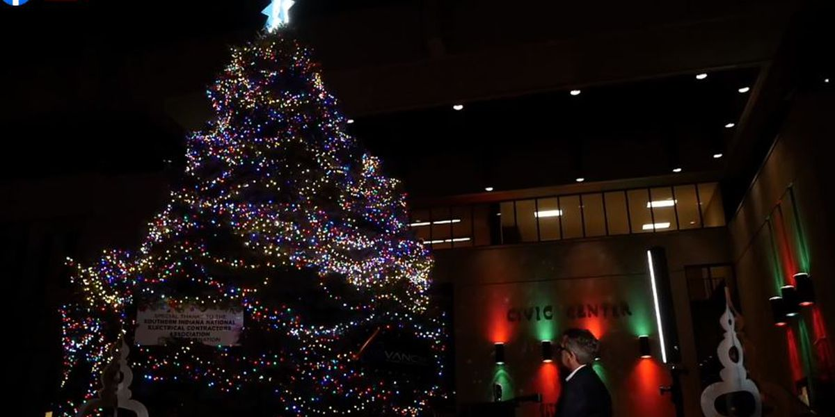 Evansville holds virtual Christmas tree lighting ceremony
