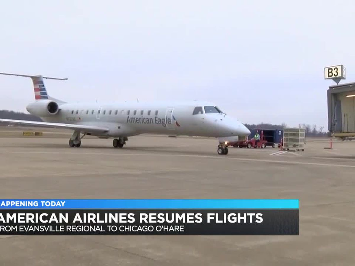 American Airlines resumes flights from EVV to Chicago