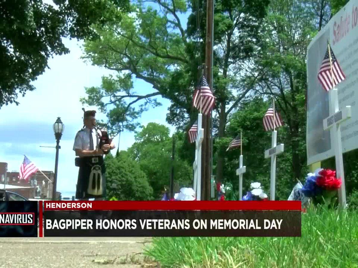 Henderson bagpiper honors veterans on Memorial Day