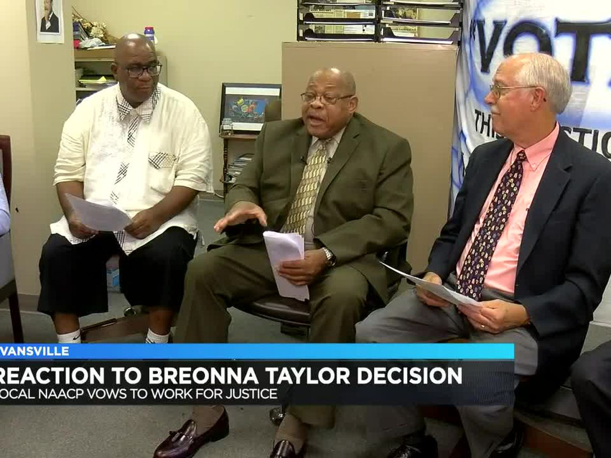 Evansville NAACP President reacts to charges in Breonna Taylor case