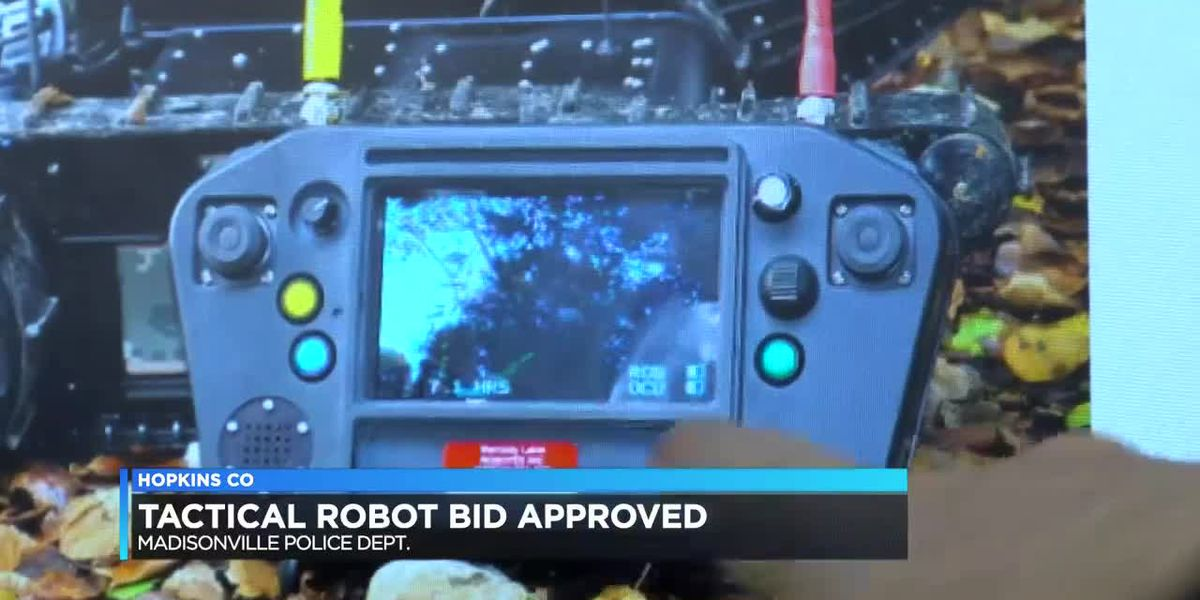 Madisonville PD now equipped with military grade tactical robot
