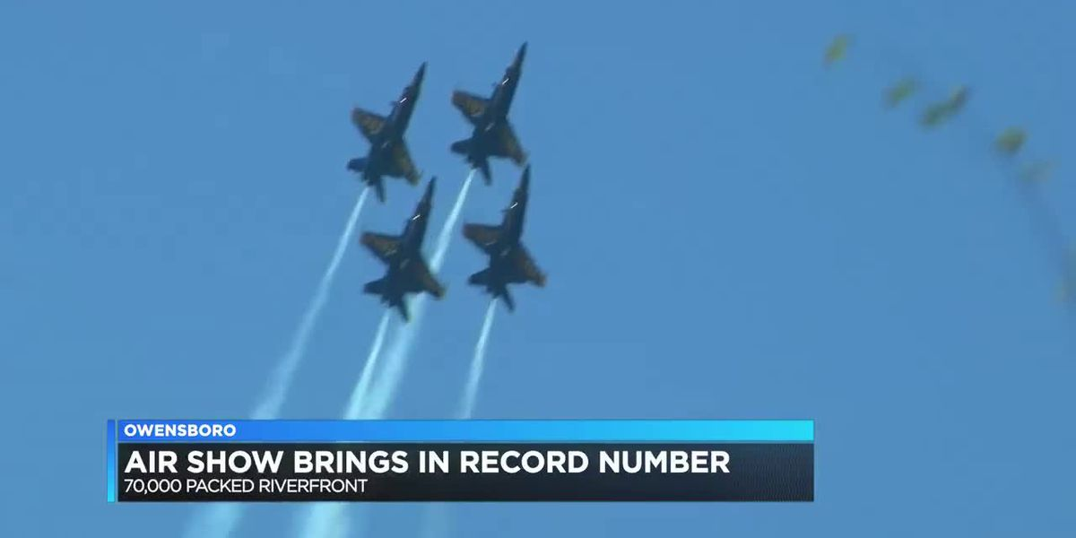 Owensboro air show brings in record attendance