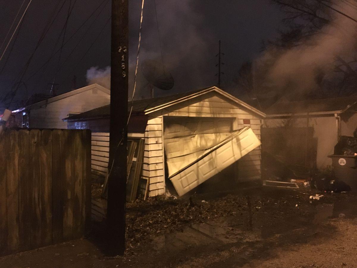 Crews called to garage fire in Evansville