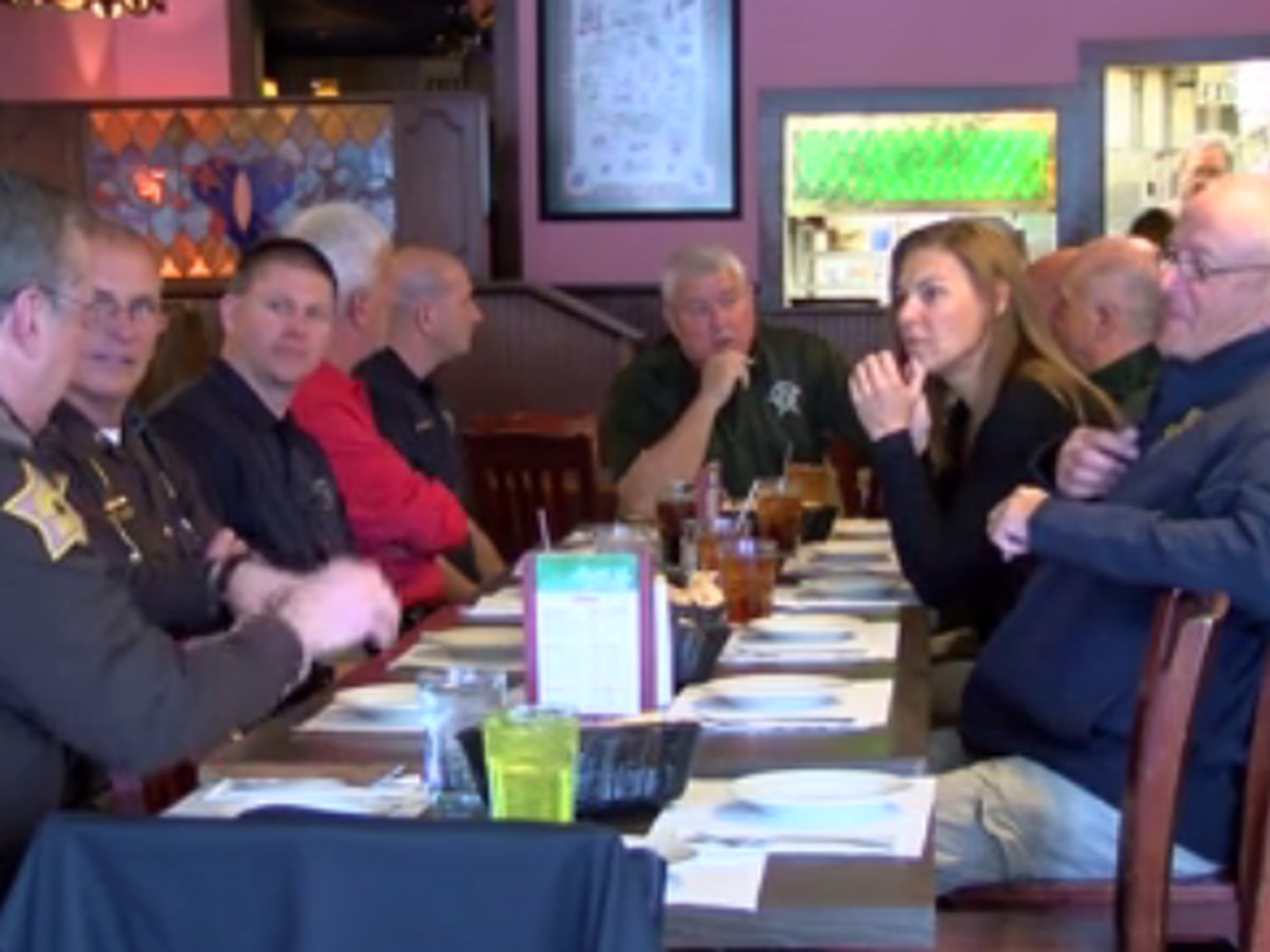 Tri-State sheriff's honored with special goodbye lunch
