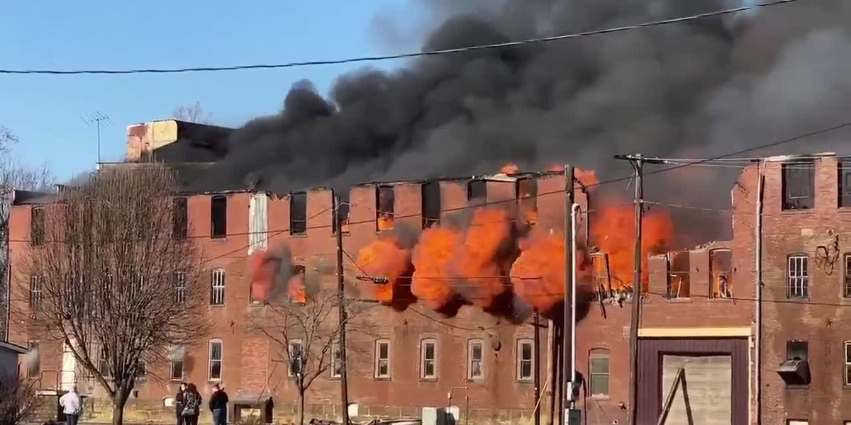 More viewer video of large fire at old Swiss Plywood building