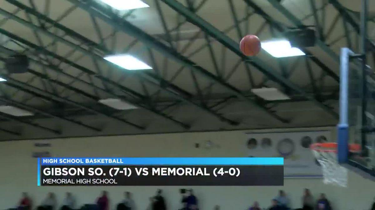 Gibson So. vs Memorial girls basketball highlights