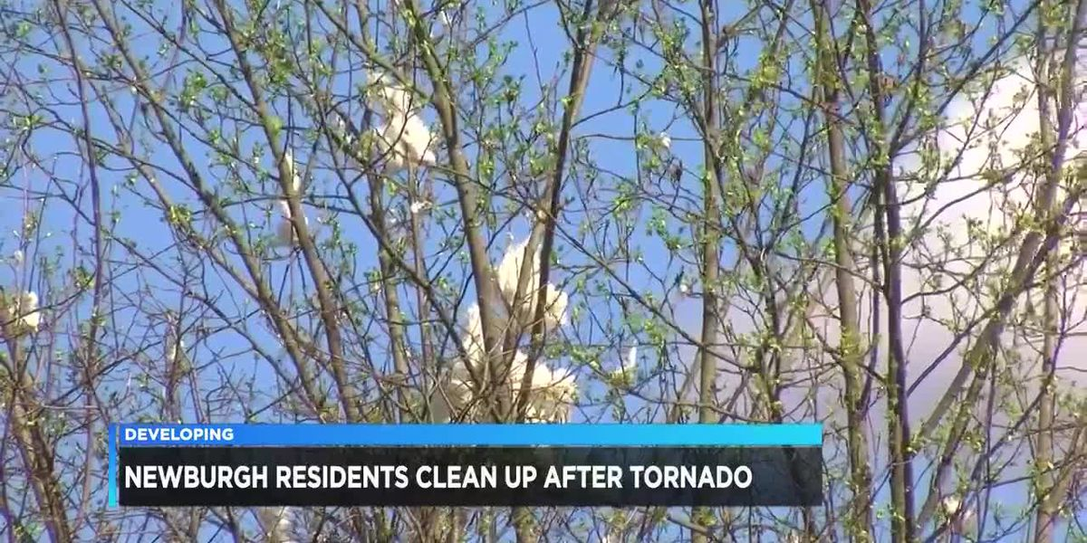 Residents still cleaning up after Newburgh tornado