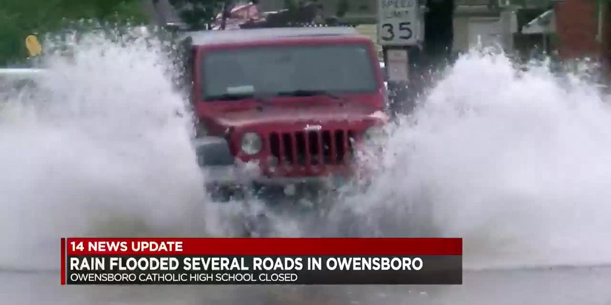 Heavy rain causes several Owensboro roads to flood