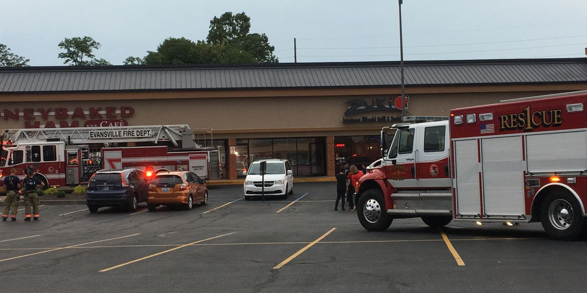 Crews called to fire at strip mall on Green River Rd.