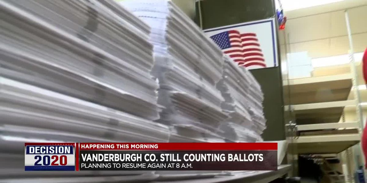 Vanderburgh Co. to resume counting ballots Thurs. morning