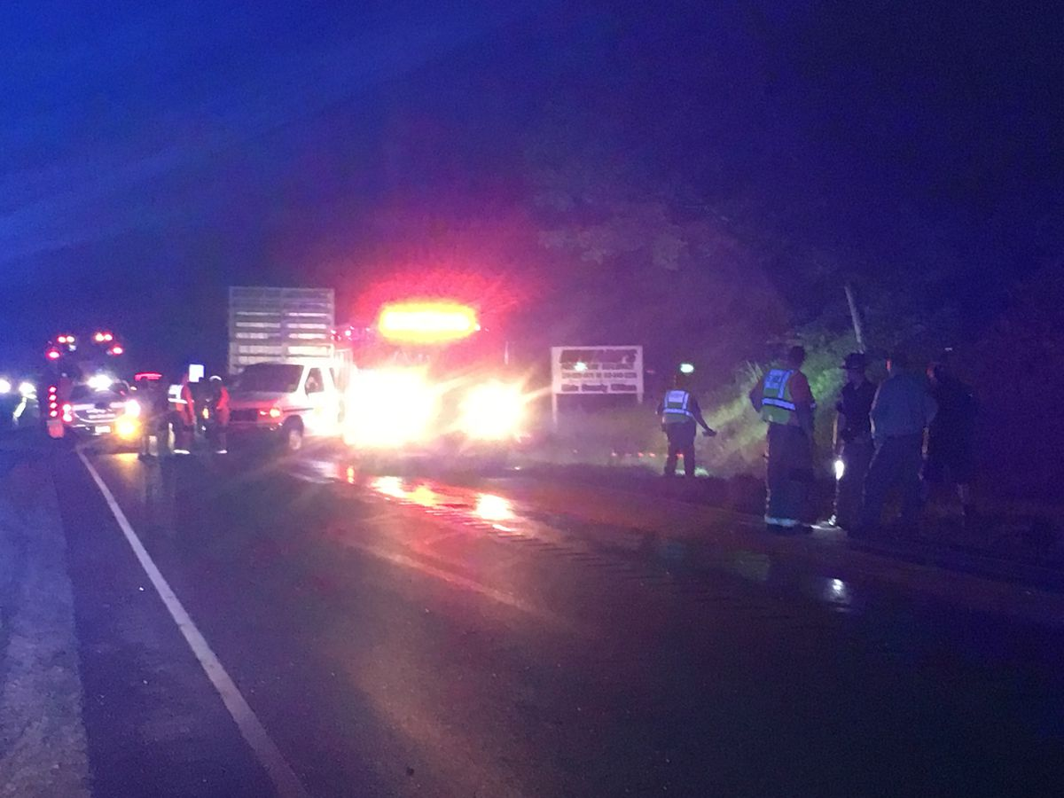Deputies: 1 dead after semi, car crash on US-231