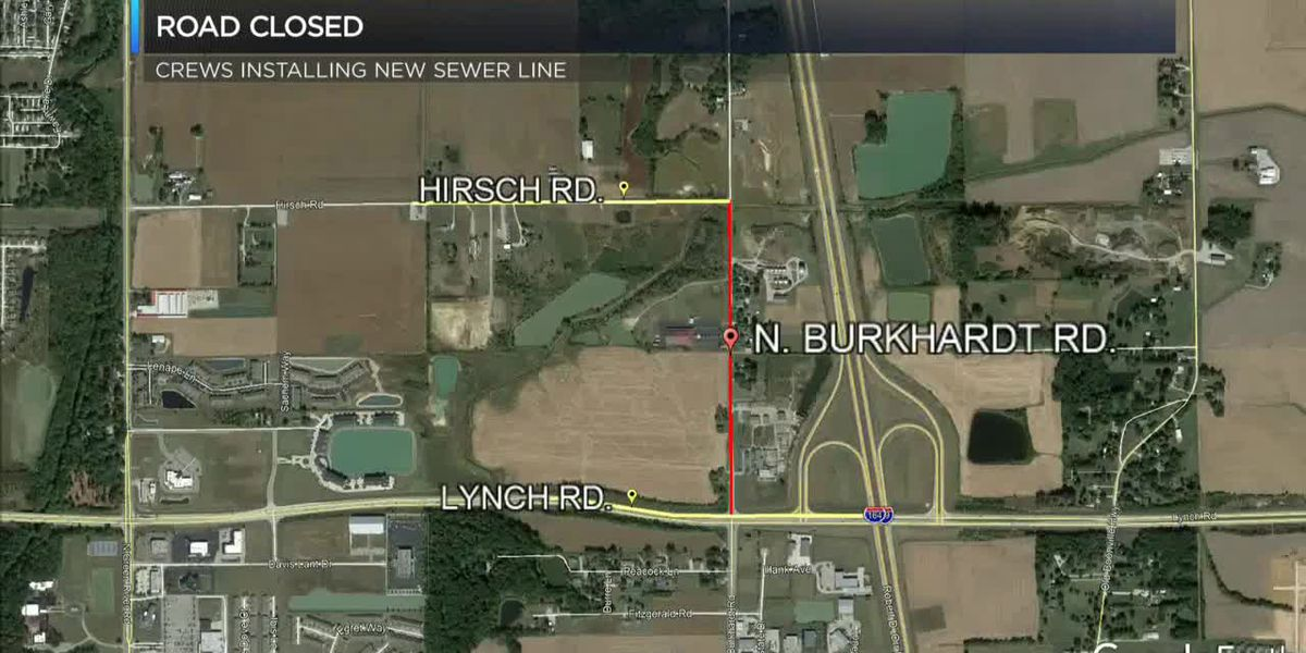 Section of Burkhardt closing while crews install sewer line
